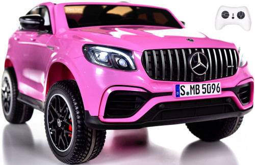 2-Seat Mercedes GLC 63S Ride On SUV w/ All Wheel Drive & Rubber Tires - Pink