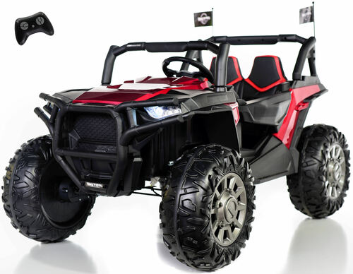 4x4 Dune Buggy UTV Ride On Side X Side RC w/ Rubber Tires - Burgundy