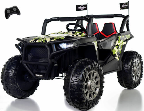 24v Dune Buggy UTV Ride On Side X Side RC w/ Rubber Tires - Army Camo