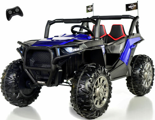 4x4 Dune Buggy UTV Ride On Side X Side RC w/ Rubber Tires - Royal Blue