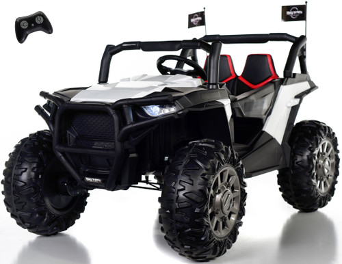 4x4 Dune Buggy UTV Ride On Side X Side RC w/ Rubber Tires - White