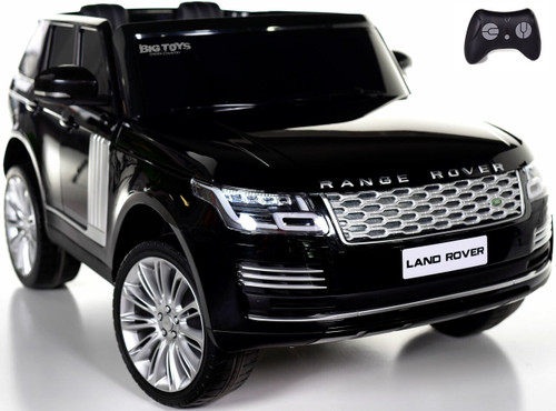 24v Range Rover Ride On SUV w/ Rubber Tires & Leather Seat - Black