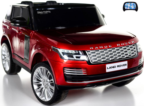 Two-Seat Range Rover Ride On SUV w/ Rubber Tires & Leather Seat - Red