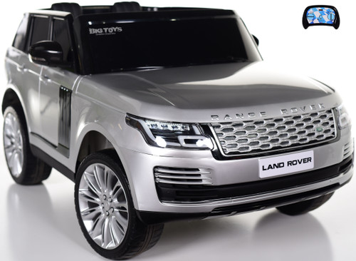 Two-Seat Range Rover Ride On SUV w/ Rubber Tires & Leather Seat - Silver