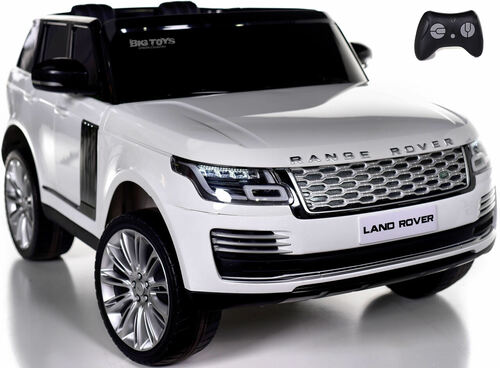 24v Range Rover Ride On SUV w/ Rubber Tires & Leather Seat - White