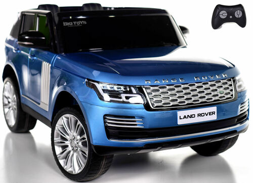 24v Range Rover Ride On SUV w/ Rubber Tires & Leather Seat - Blue