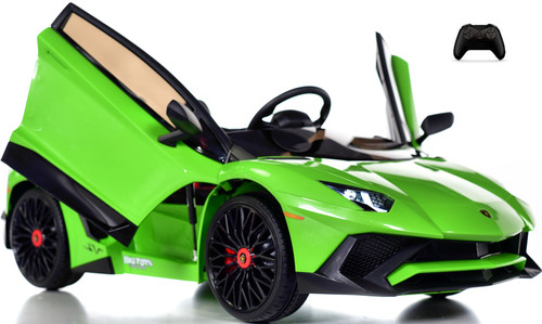 Toddler Lamborghini Ride On Car w/ Leather Seat & Large Motors - Green