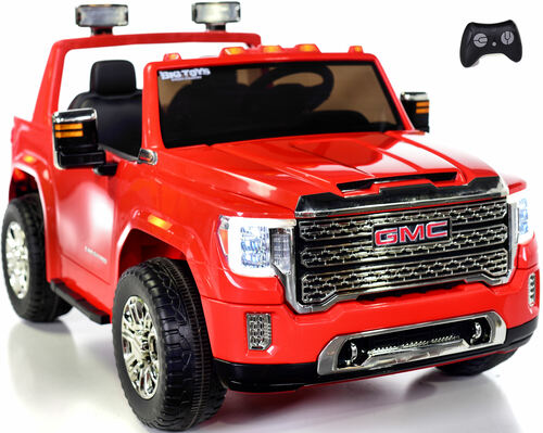 4 wheel drive 4x4 GMC Denali Ride On Truck w/ Remote Control - Red