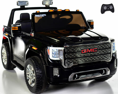 4 wheel drive 4x4 GMC Denali Ride On Truck w/ Remote Control - Black