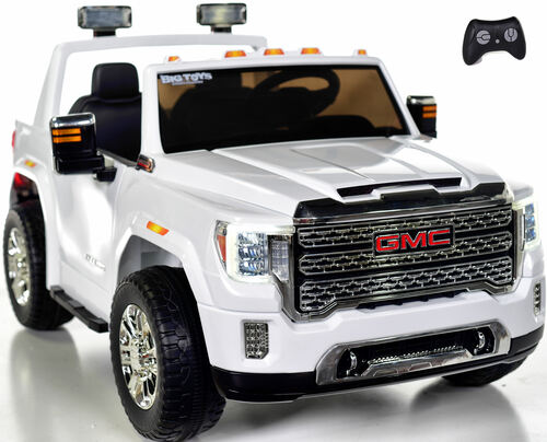 4 wheel drive 4x4 GMC Denali Ride On Truck w/ Remote Control - White