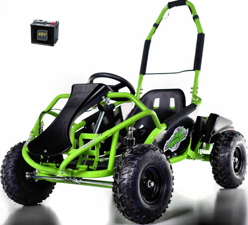48v Electric Go-Kart w/ Upgraded Suspension - Green
