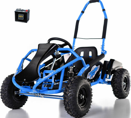 48v Electric Go-Kart w/ Upgraded Suspension - Blue