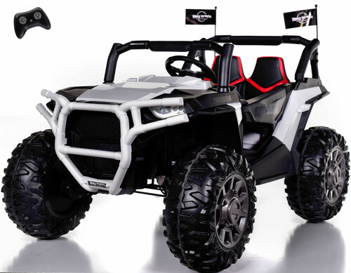 4x4 Dune Buggy UTV Ride On Side X Side RC w/ Rubber Tires - Racing White