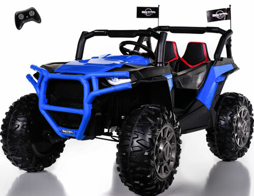 4x4 Dune Buggy UTV Ride On Side X Side RC w/ Rubber Tires - Sport Blue
