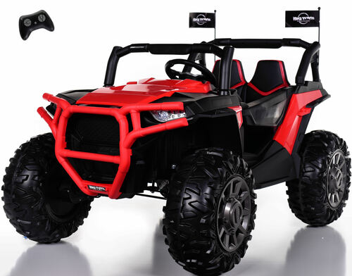 4x4 Dune Buggy UTV Ride On Side X Side RC w/ Rubber Tires - Fire Red