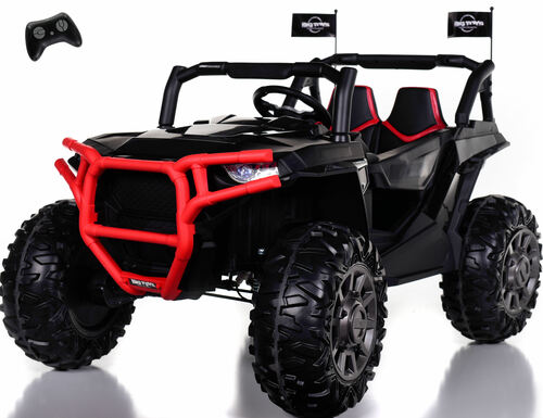 4x4 Dune Buggy UTV Ride On Side X Side RC w/ Rubber Tires - Racing Black
