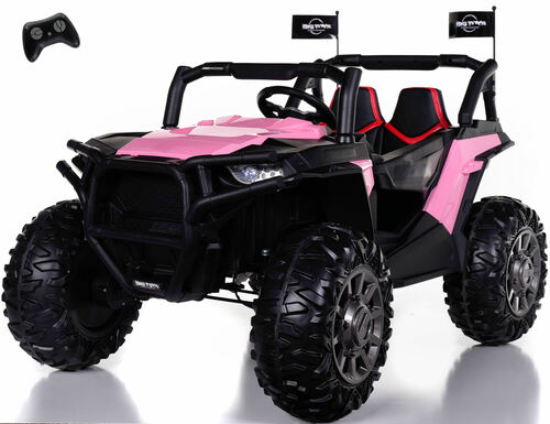 4x4 Dune Buggy UTV Ride On Side X Side RC w/ Rubber Tires - Posh Pink