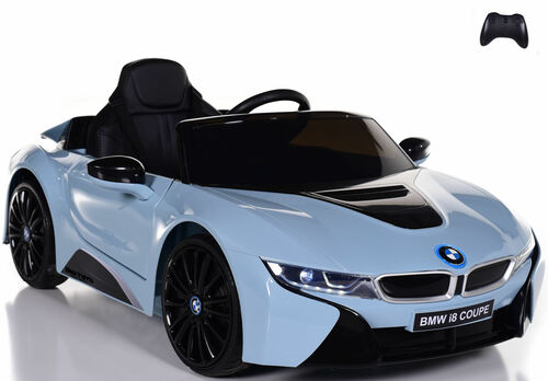 12V BMW I8 Ride On Car w/ remote control + upgraded motors & leather seats - Blue