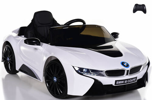 12V BMW I8 Ride On Car w/ remote control + upgraded motors & leather seats - White