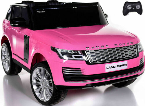 24v Range Rover Ride On SUV w/ Rubber Tires & Leather Seat - Pink