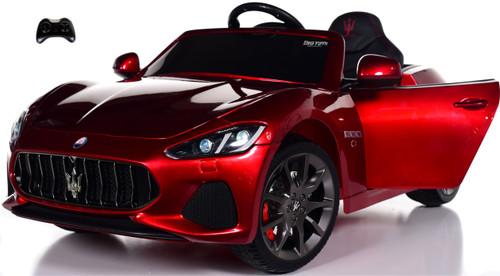 Maserati GranCabrio Ride On Car w/ Leather Seat & Rubber Tires - Red