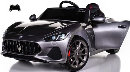 Maserati GranCabrio Ride On Car w/ Leather Seat & Rubber Tires - Silver