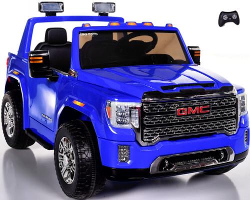 4 wheel drive 4x4 GMC Denali Ride On Truck w/ Remote Control - Blue
