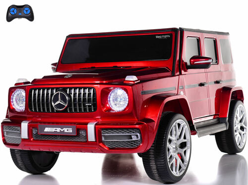 24v Mercedes G63 Ride On SUV w/ All Wheel Drive & Rubber Tires - Red