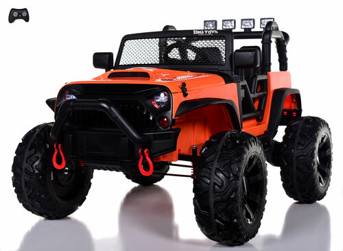 24v Outback Ride On Truck w/ Rubber Tires & Leather Seat - Orange