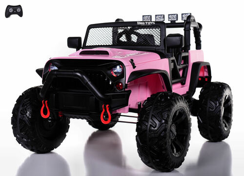 24v Outback Ride On Truck w/ Rubber Tires & Leather Seat - Pink