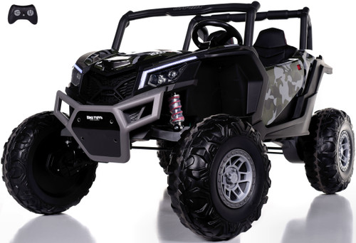 24v Slasher Ride On UTV w/ Rubber Tires & Leather Seat - Camo
