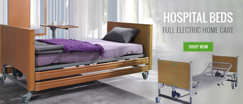 Electric hospital beds for hospital nursing home or residential use. There will be a bed here to suit most every user.
