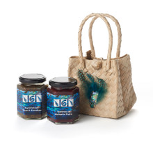 Kiwi Chutneys in a Kete Bag