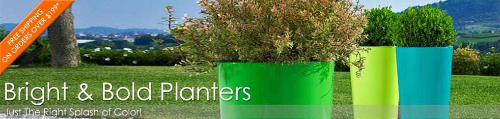 Bright & Bold Planters