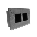 Mini Double Grovert Wall Planter - Gray