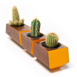 Boxcar Planter- Walnut and Orange