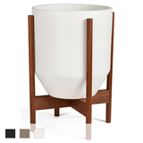 Case Study Hex Planter with Wood Stand