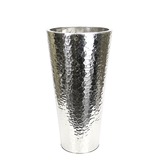 Hammered Stainless Steel Cone Planter