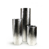 Hammered Stainless Steel Cylinder Planter