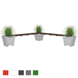 Flat-Pack L-Shape Planter Bench