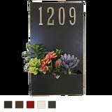 Painted Address Planter