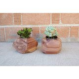 Cedar Wood Geometric Planter