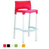 Gio Resin Outdoor Bar Stool (Set of 2)
