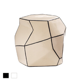 Geo Stool and Accent Table