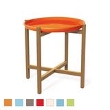 Ibis Ceramic and Teak Accent Table
