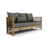 Spirals Teak 3-Seater Sofa