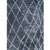 Blue Snow Whistler Indoor Rug