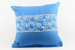 mushroom blue cushion cover
