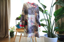 Water lilies long sleeve tunic / dress