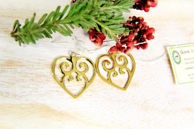 fair trade ethical recycled love jewellery earrings